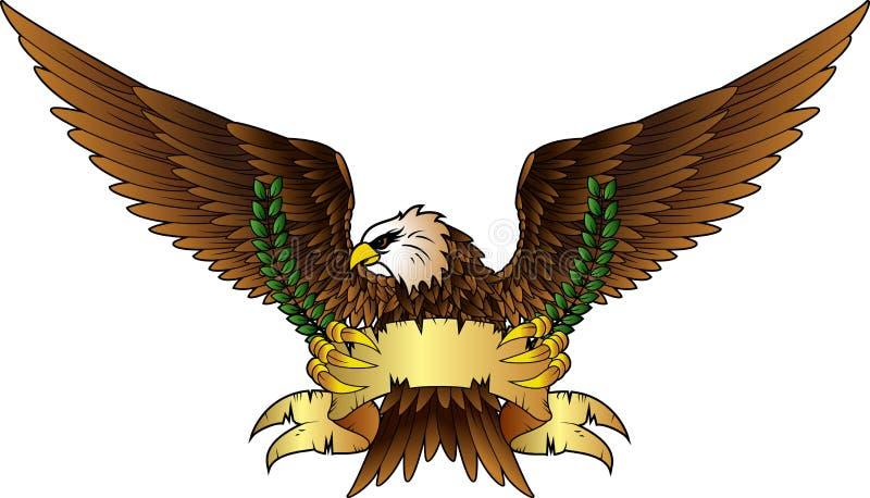 Écartez les insignes à ailes d'aigle illustration de vecteur