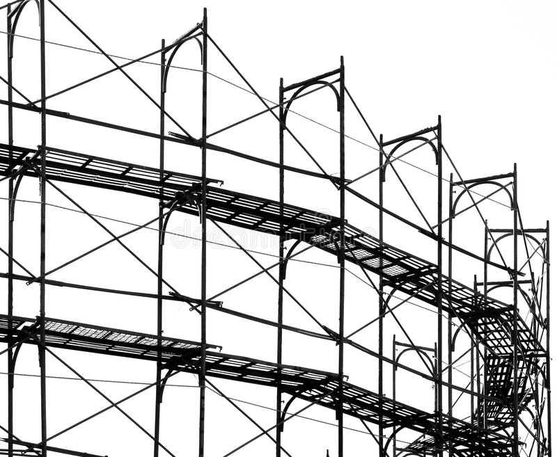 Échafaudage de chantier de construction photos libres de droits