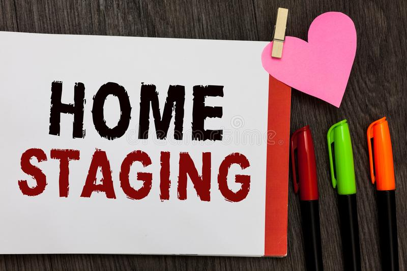 Échafaudage de maison des textes d'écriture de Word Concept d'affaires pour la Loi de préparer une résidence privée pour la vente photos libres de droits