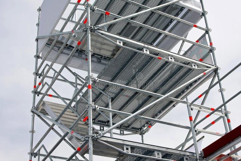 Échafaudage en aluminium image stock