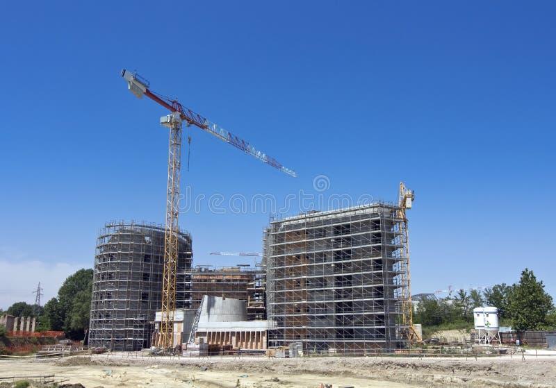 Échafaudage sur un chantier de construction photo libre de droits