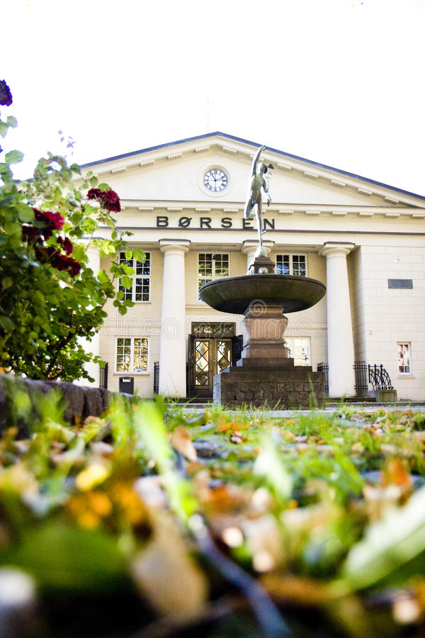 Échange courant d'Oslo à l'automne photographie stock libre de droits