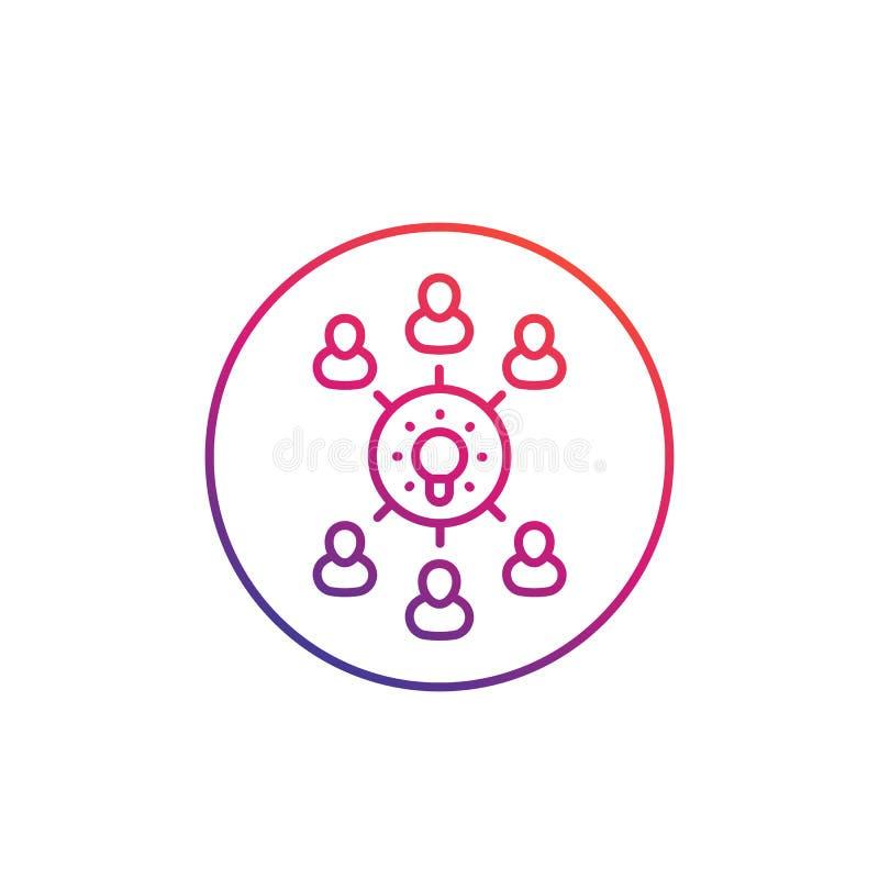 Échange d'idées, créativité de groupe, collecte des idées illustration stock