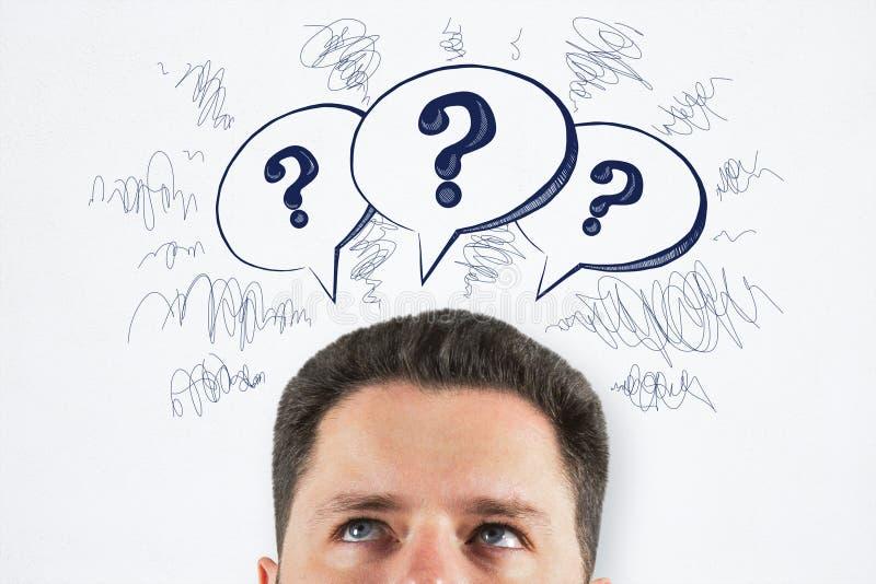 Échange d'idées et concept de confusion images stock