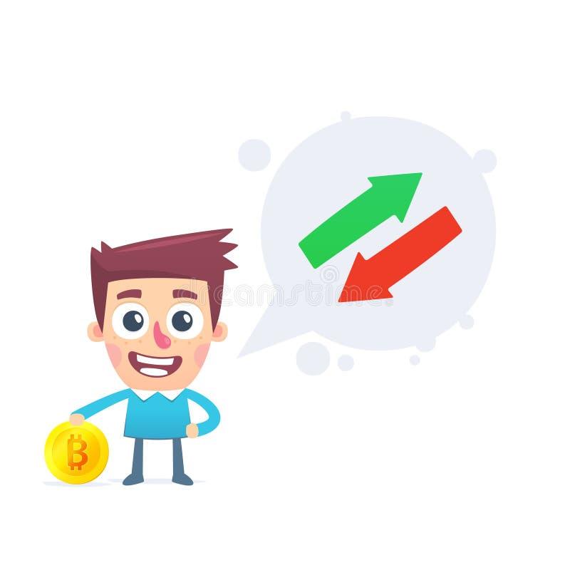 Échange de Bitcoin illustration stock