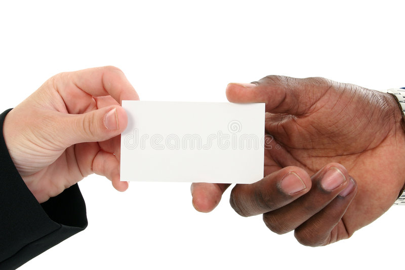échange de carte de visite professionnelle de visite image libre de droits