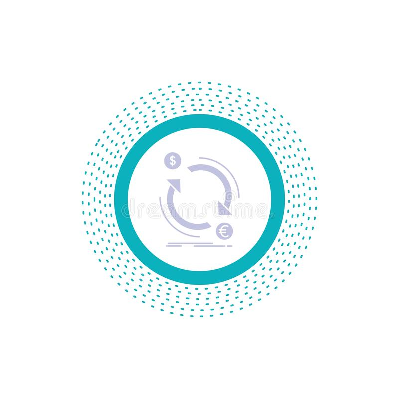 échange, devise, finances, argent, icône de Glyph de converti Illustration d'isolement par vecteur illustration de vecteur
