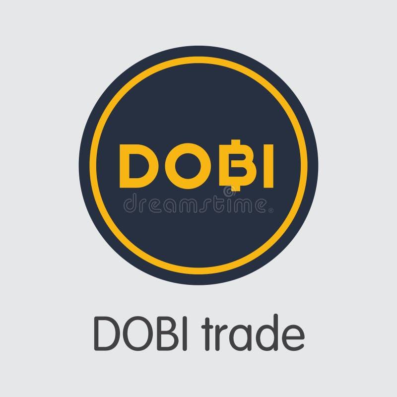 Échange - Dobi Trade Les cryptos pièces de monnaie ou logo de Cryptocurrency illustration libre de droits