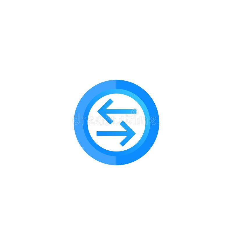 Échange, icône ronde de vecteur de converti illustration libre de droits