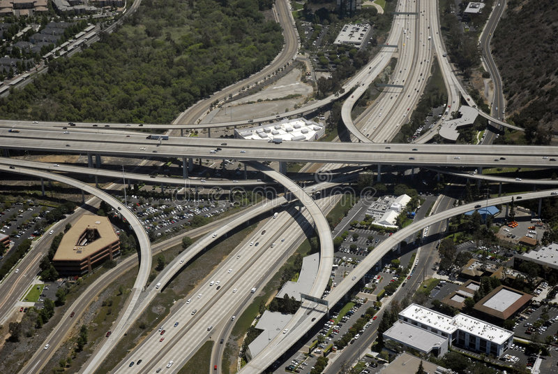 Échange méridional d'autoroute de la Californie photo stock