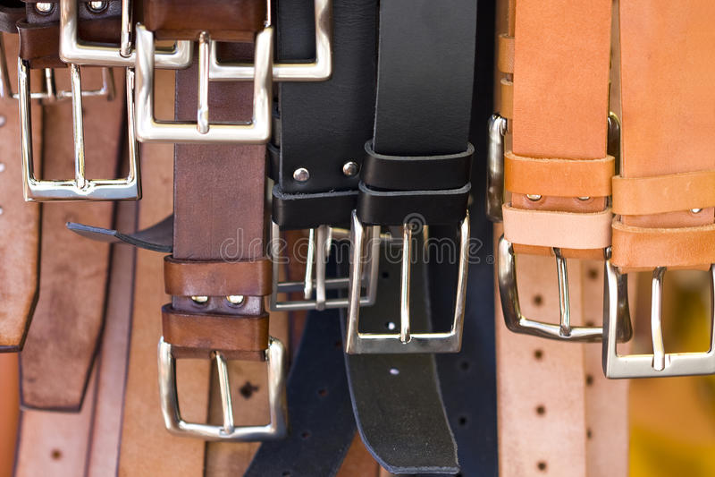 échanges des métiers et des accessoires en cuir photographie stock libre de droits