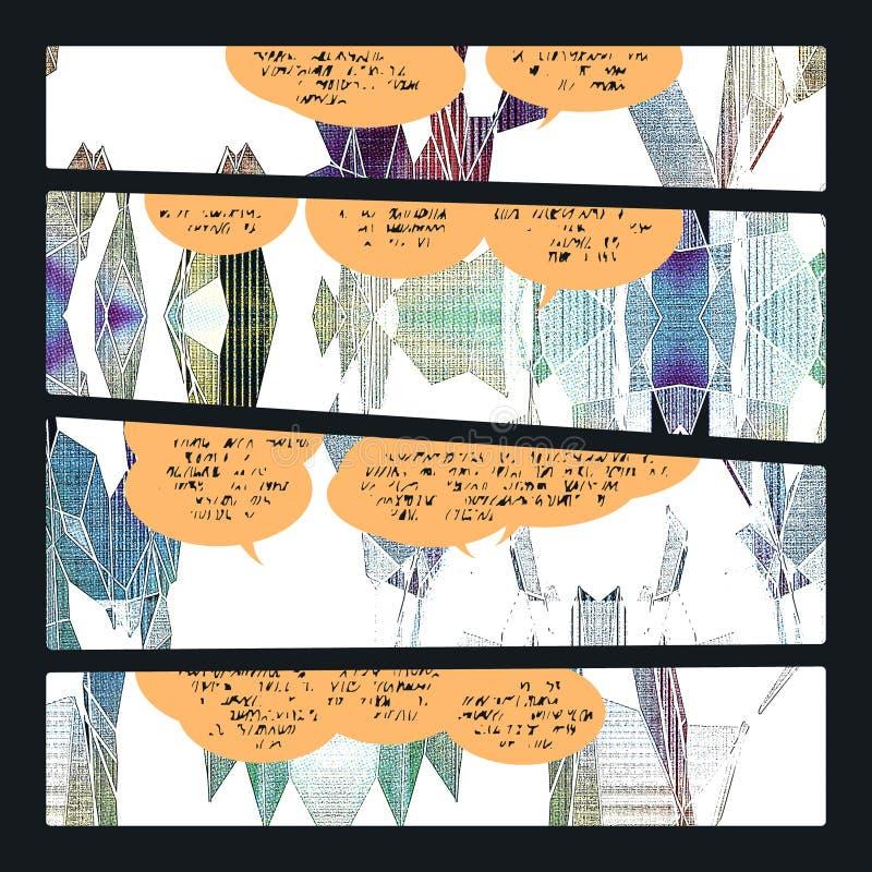Échantillon de bande dessinée illustration libre de droits