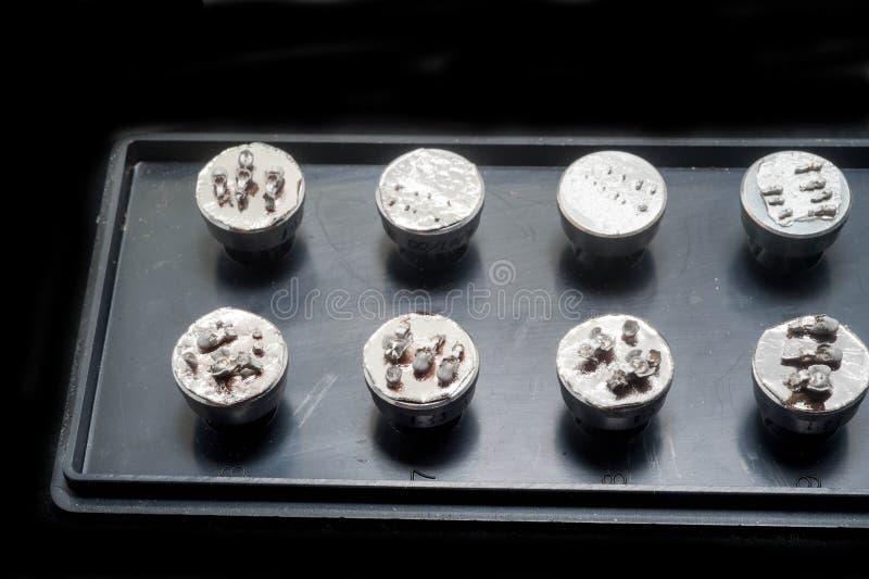 Échantillon de microscope à balayage électronique image stock