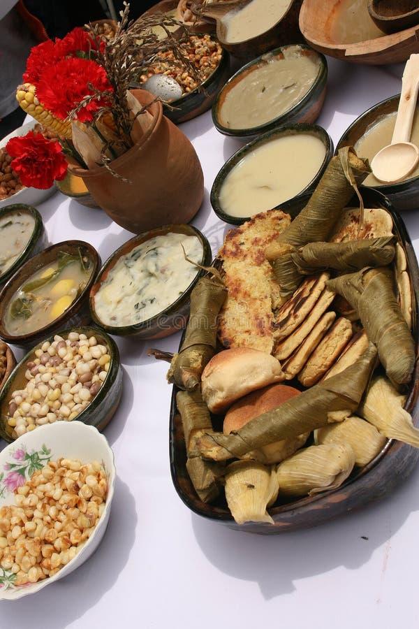 Échantillon de nourriture locale d'Ecuadorian photographie stock