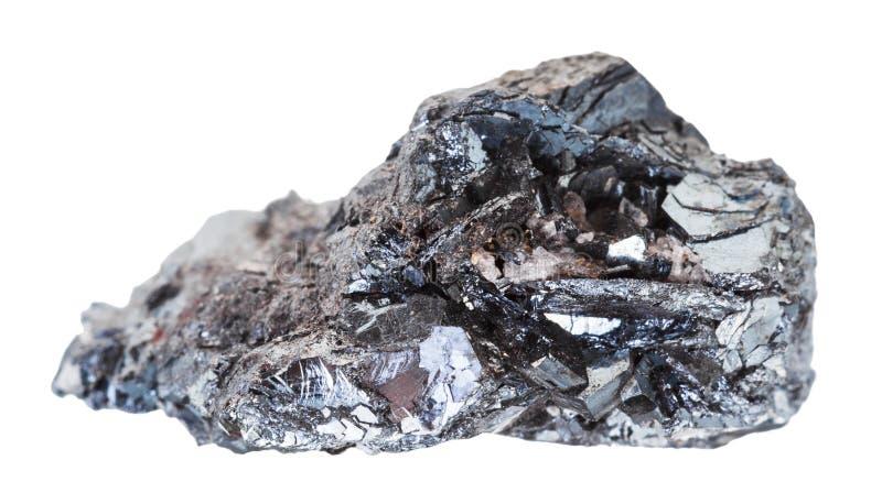 Échantillon de pierre de minerai de fer d'hématite d'isolement photos libres de droits
