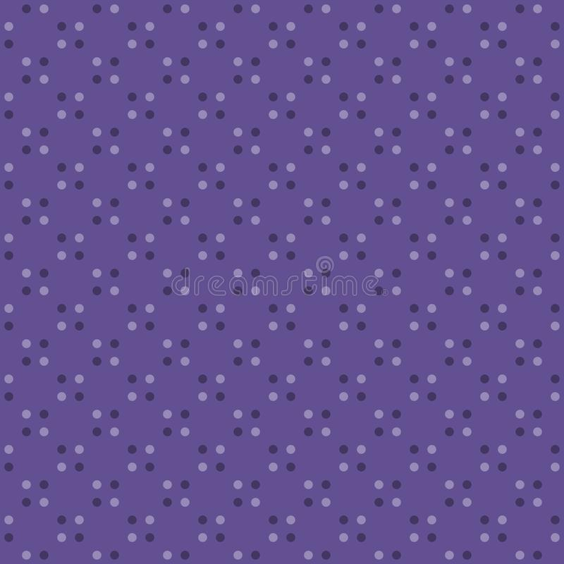 Échantillon de tissu avec le motif sans couture circulaire de point de polka de modèle illustration libre de droits