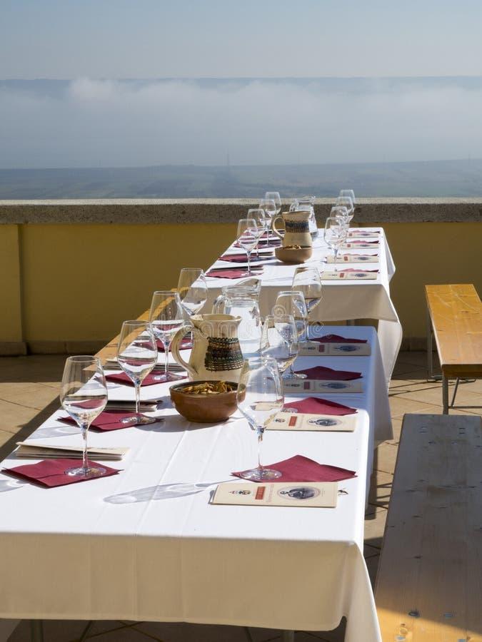 Échantillon de vin à l'établissement vinicole de prince Stirbey, Roumanie images stock