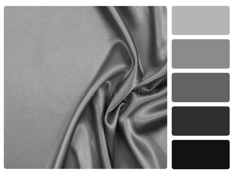 chantillon gris de palette de couleur de satin images libres de droits image 35076239. Black Bedroom Furniture Sets. Home Design Ideas