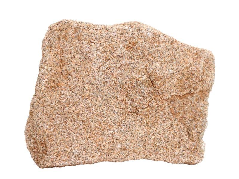 Échantillon naturel roche sédimentaire commune de grès de chertarenite d'†«sur le fond blanc photos stock