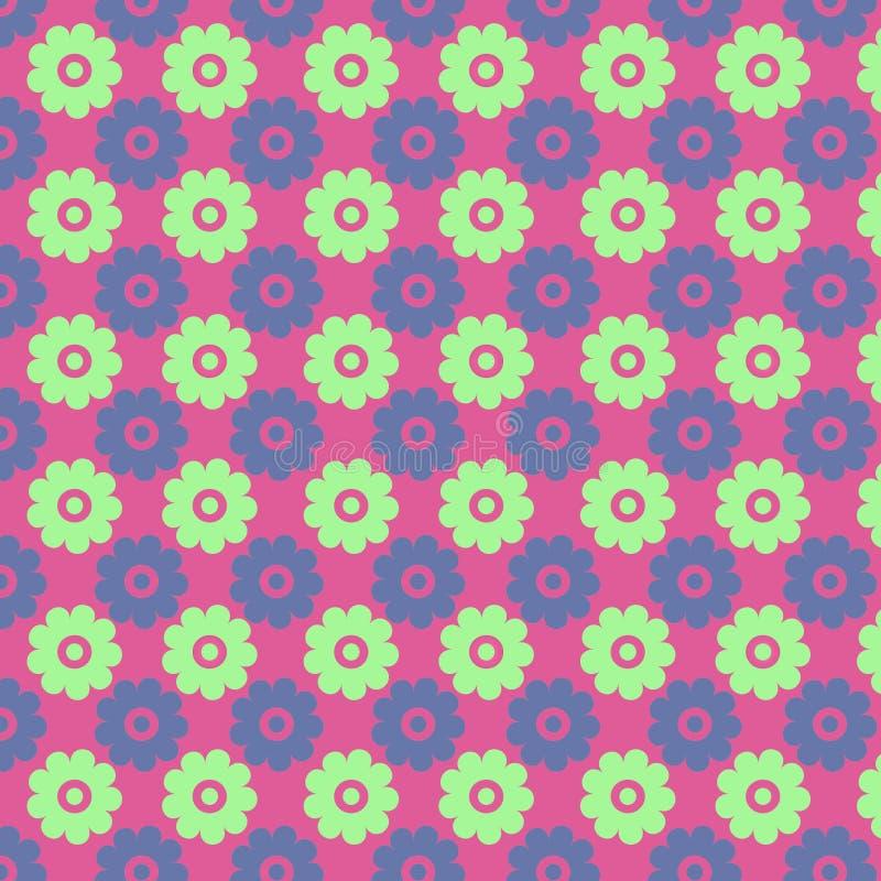 Échantillon sans couture de belle fleur illustration stock