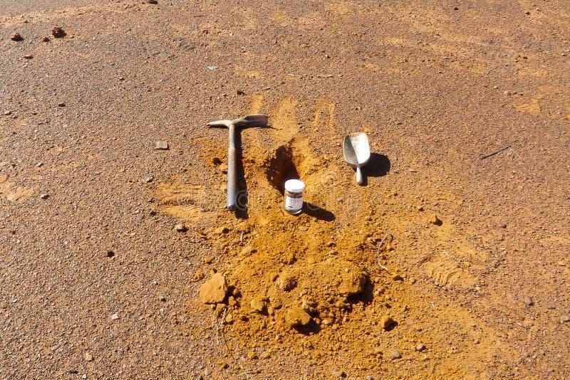 Échantillonnage de sol images libres de droits