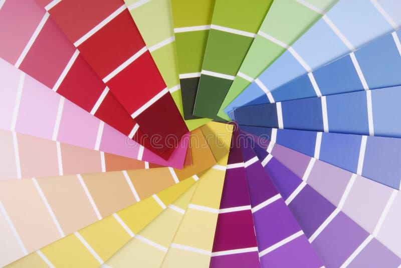 Échantillonneur de guide de couleur photographie stock libre de droits