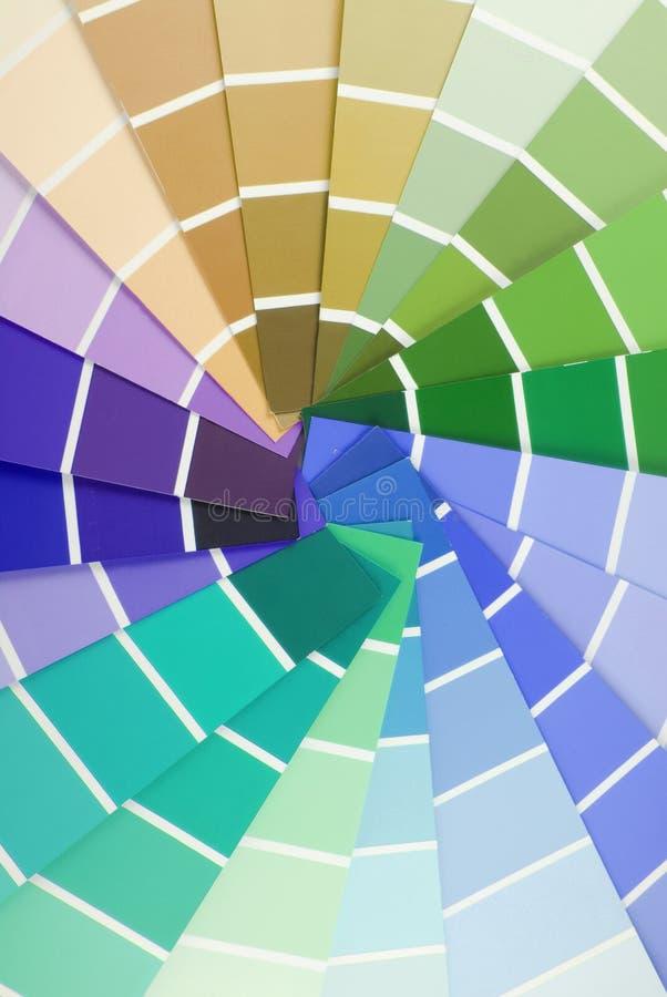 Échantillonneur de guide de couleur photo libre de droits