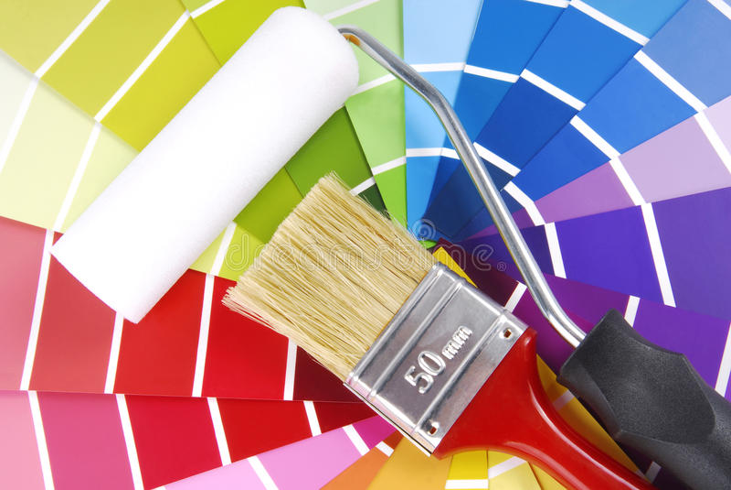 Échantillonneur de guide de couleur image stock