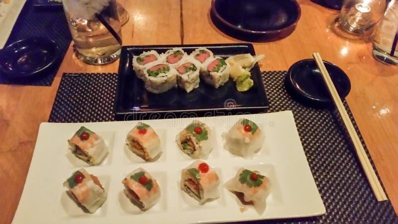 Échantillonneur de sushi photo libre de droits