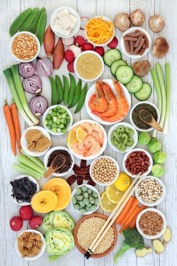 Échantillonneur sain macrobiotique de nourriture photos stock