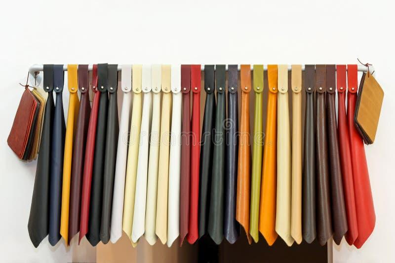 Échantillons 2 de cuir photo stock