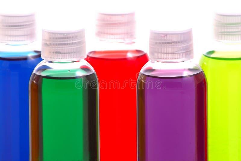 Échantillons chimiques colorés image libre de droits