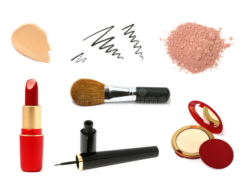 Échantillons cosmétiques décoratifs de produit images libres de droits