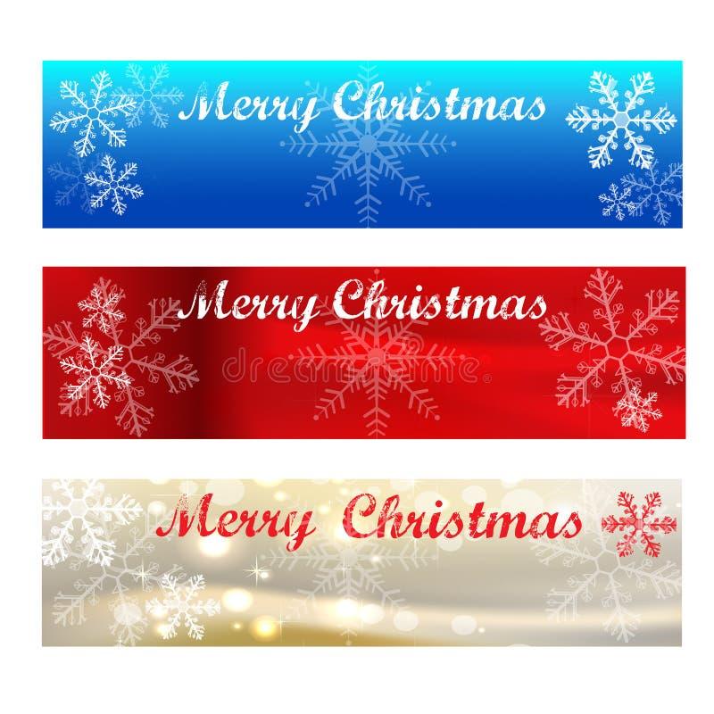 Échantillons de Bannière-couleur de Joyeux Noël photo libre de droits