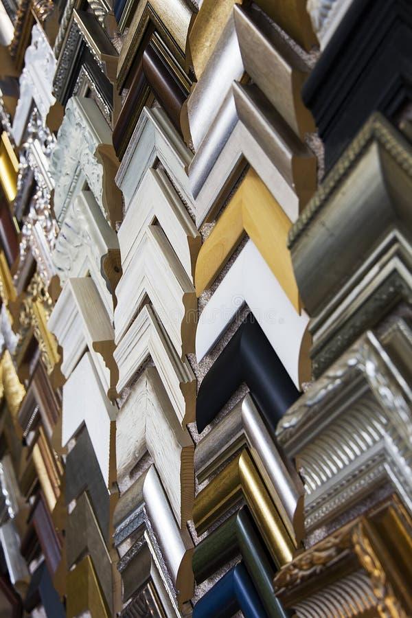 Échantillons de cadres de tableau photographie stock libre de droits