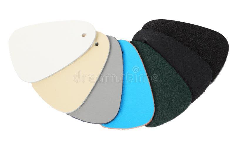 Échantillons de cuir de couleur photos libres de droits