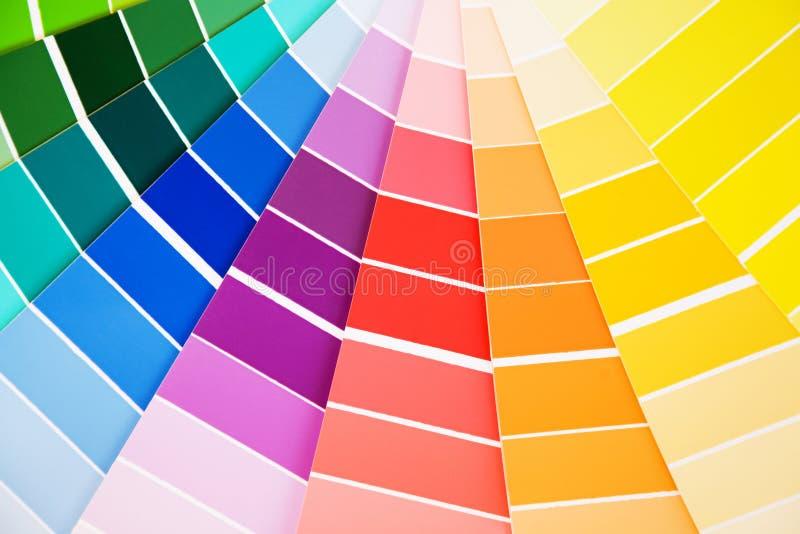 Échantillons de guide de couleur photographie stock libre de droits