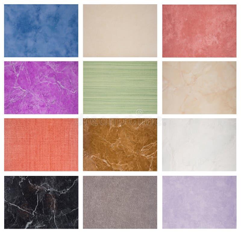 Échantillons de la texture des tuiles de marbre photographie stock