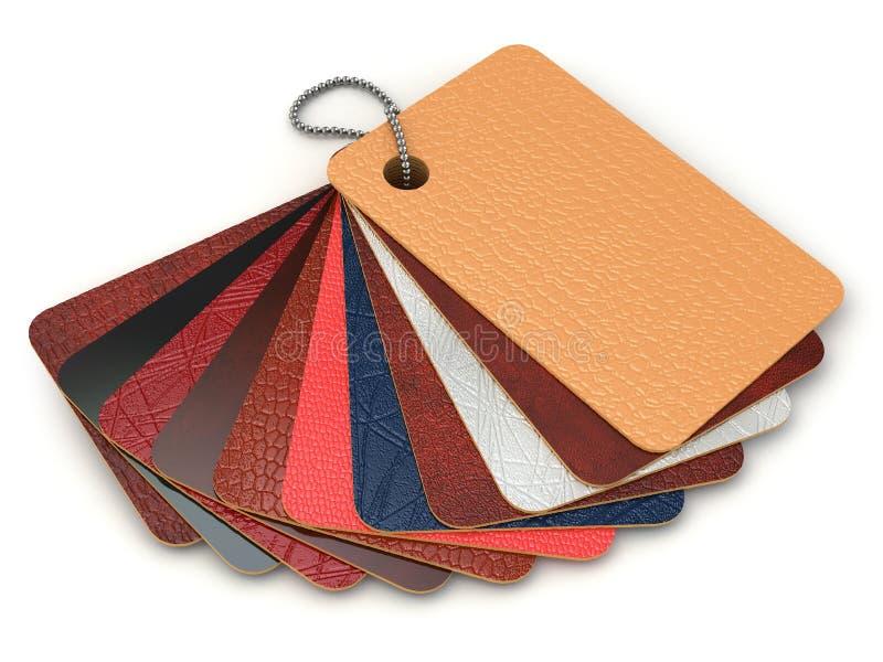 Échantillons de palette de couleurs de cuir. illustration stock