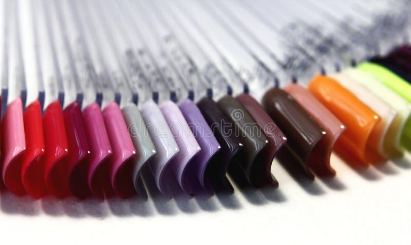 Échantillons de poli de gel de disposition de couleur photo libre de droits