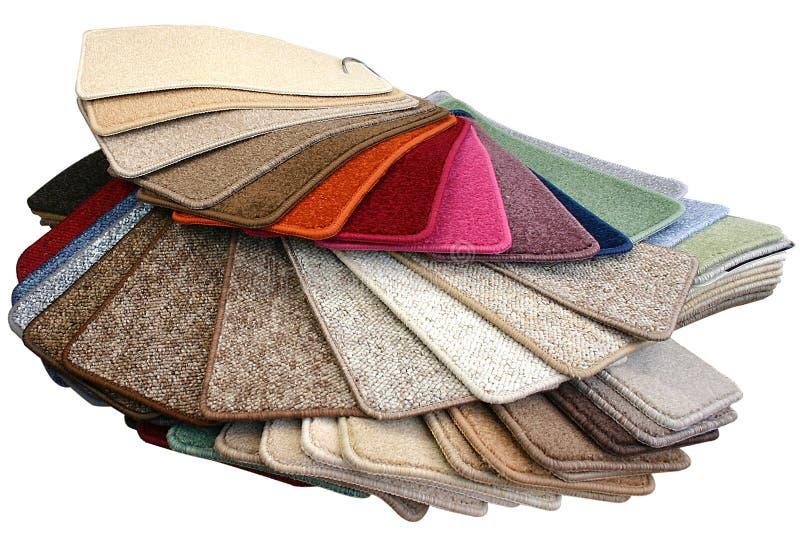 Échantillons de tapis photo stock