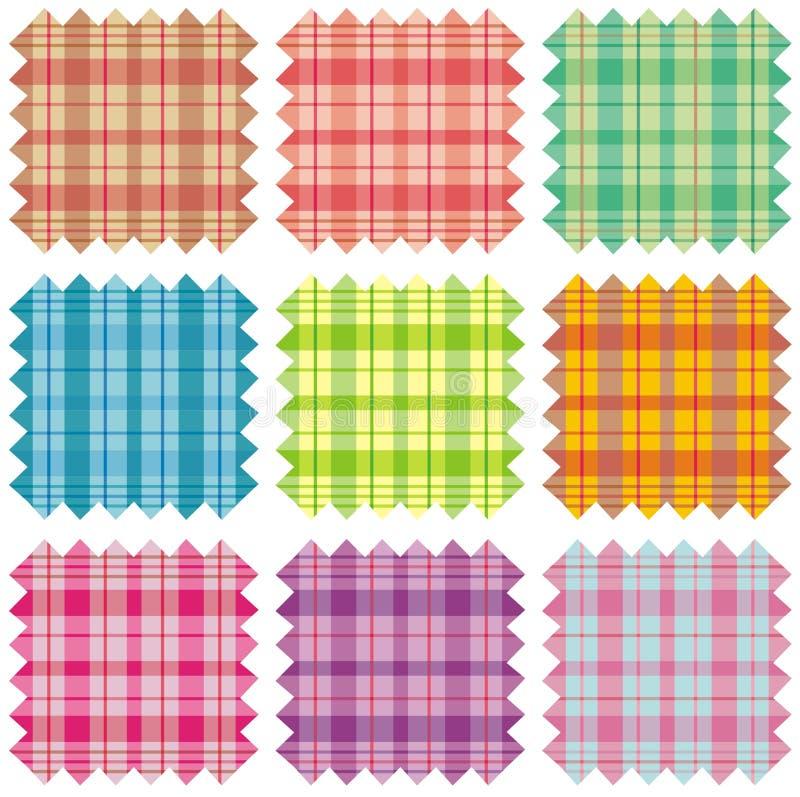 Échantillons de tissu illustration de vecteur