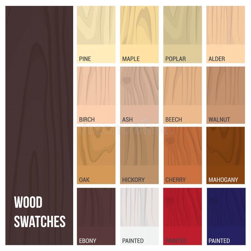 Échantillons en bois illustration de vecteur