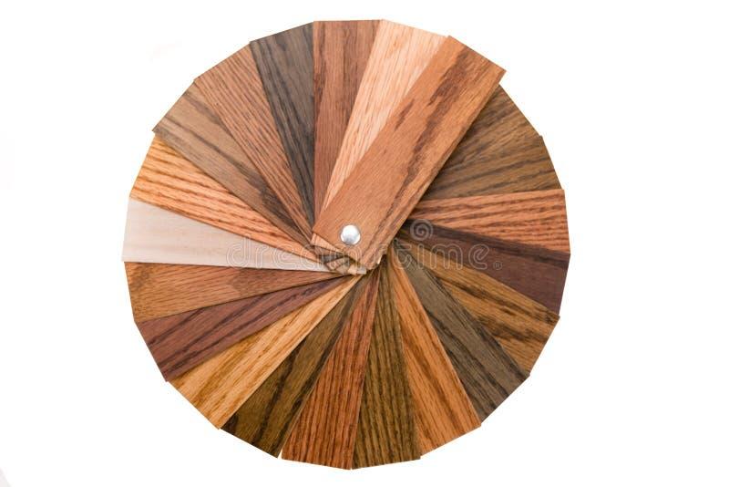 Échantillons en bois de couleur photo libre de droits