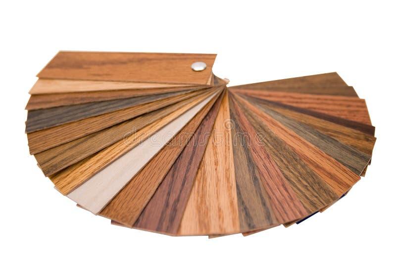 Échantillons en bois de couleur photo stock