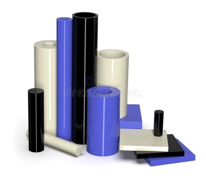Échantillons en nylon moulés image libre de droits