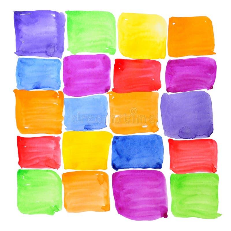 Échantillons rugueux colorés de peinture. Fond abstrait. images libres de droits