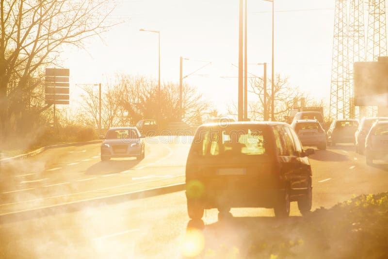 Échappement de gaz de véhicule photographie stock