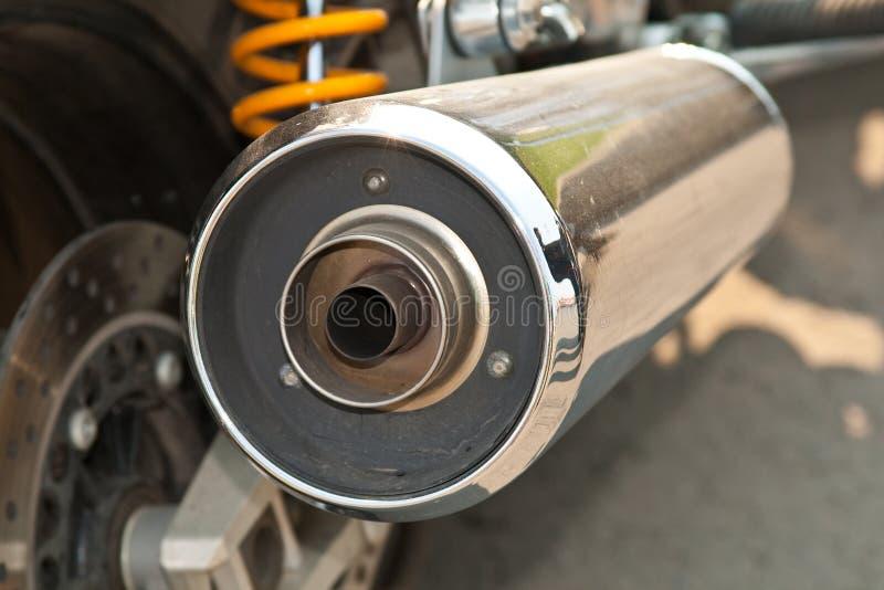 Échappement de moto photographie stock libre de droits