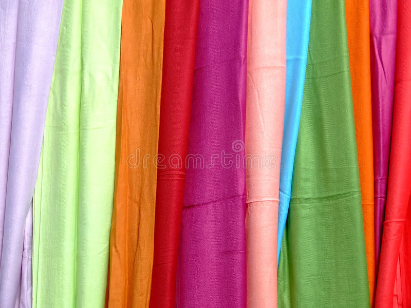 Écharpe de couleur photographie stock